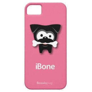 Black Pug Bone! iPhone 5 Case (Pink)