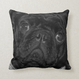 Black Pug cushion Pillow