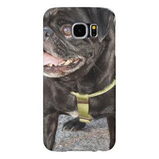 Black Pug Dog Samsung Galaxy S6 Case