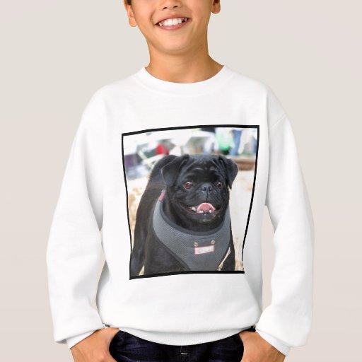 Black Pug Dog Sweatshirt