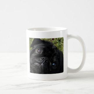 black-pug eyes classic white coffee mug