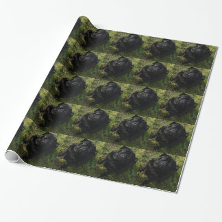 black-pug full.png wrapping paper