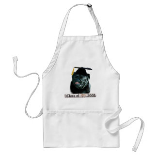 Black Pug Grad 09 Adult Apron