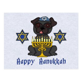 Black Pug - Hanukkah Card