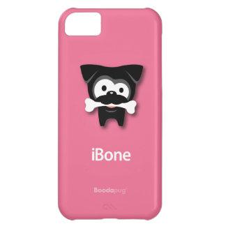 Black Pug iBone (Pink) iPhone 5C Cases