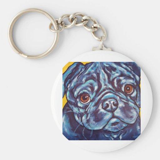 Black Pug Key Chain