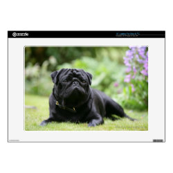 17' Laptop Skin for Mac & PC with Pug Phone Cases design