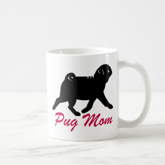Black Pug Mom Coffee Mug