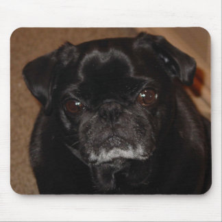 Black Pug Mug Mousepad