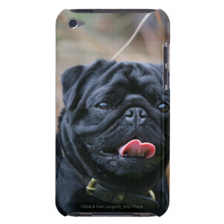 Black Pug Panting While Looking at Camera iPod Touch Case-Mate Case