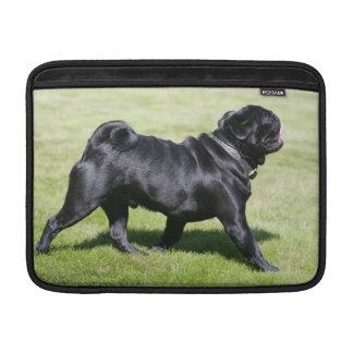 Black Pug Panting While Walking Sleeve For MacBook Air