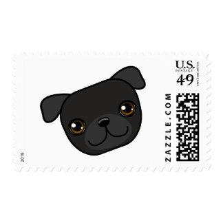 Black Pug Postage