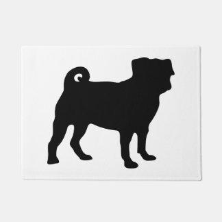 Black Pug Silhouette - Simple Vector Design Doormat
