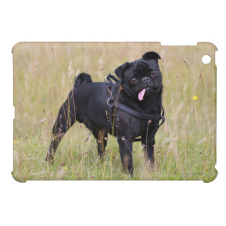 Black Pug Sticking Out Tounge Cover For The iPad Mini