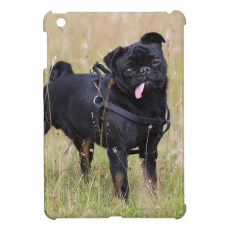 Black Pug Sticking Out Tounge iPad Mini Cover