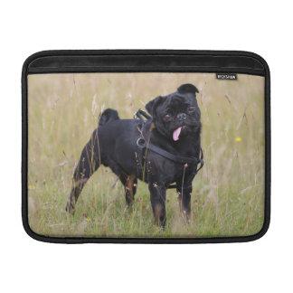 Black Pug Sticking Out Tounge MacBook Sleeve