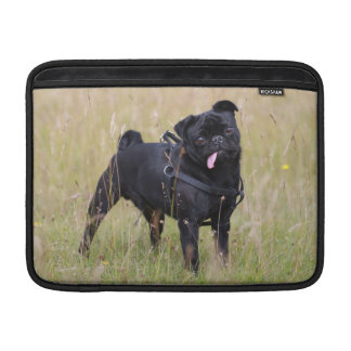 Black Pug Sticking Out Tounge Sleeve For MacBook Air