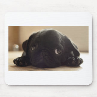 Black puggy mouse pad