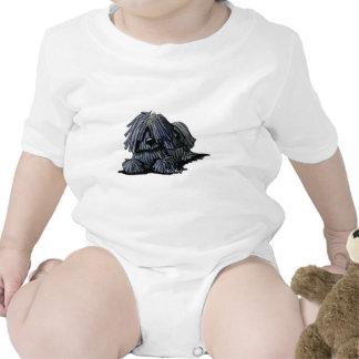 Black Puli Dog Baby Bodysuit