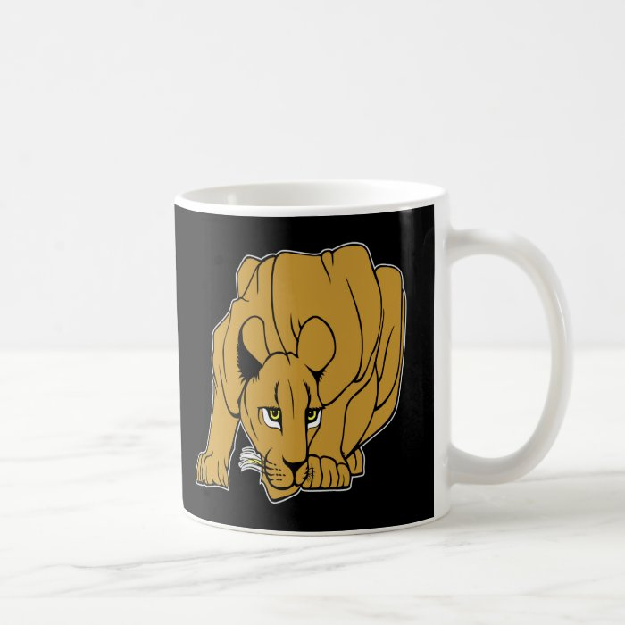 Black Puma Cougar Panther Mountain Lion Coffee Mug