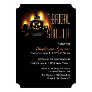 Black Pumpkin Bridal Shower Card