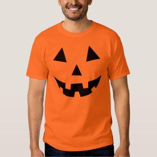 Black Pumpkin Face Halloween T-shirt