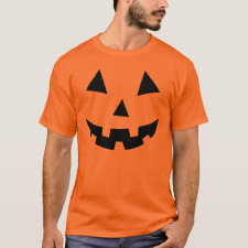 Black Pumpkin Face Halloween T-shirt