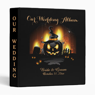 Black Pumpkin Halloween Wedding Binder