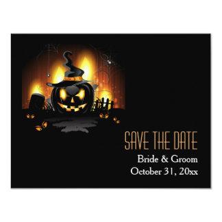 Black Pumpkin Save The Date Cards