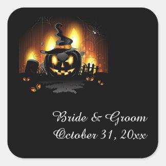 Black Pumpkin Wedding Stickers