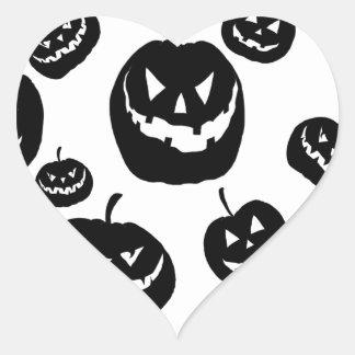 Black Pumpkins Heart Sticker