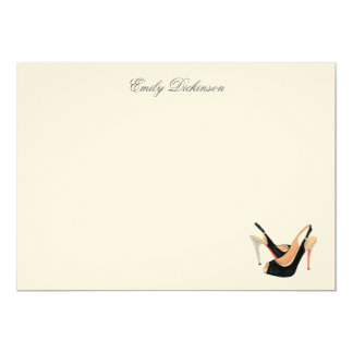 Black Pumps Personal Note Cards