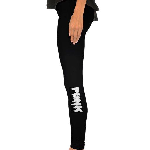 Black Punk Drip Font Leggings