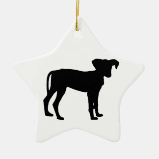 Black puppies ceramic ornament