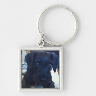 Black Puppy Keychain