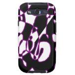 Black Purple Abstract Samsung Galaxy S Case Galaxy SIII Cover
