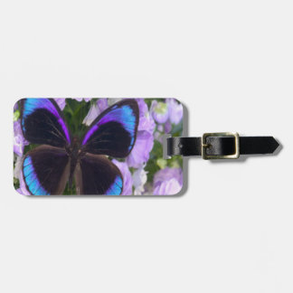 Black, Purple and Blue Butterfly Bag Tag