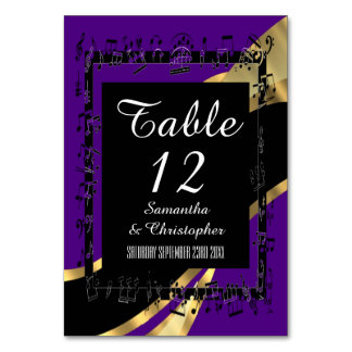 Black purple and gold personalized card