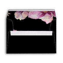 Black Purple and Gold wedding Envelope