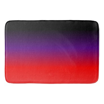 Beach Themed Black, Purple and Red Gradient Bathroom Mat