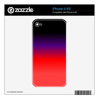 Black, Purple and Red Gradient Decal For The iPhone 4S