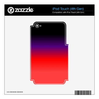 Black, Purple and Red Gradient iPod Touch 4G Decal