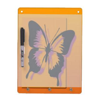 Black Purple Butterfly Dry-Erase Board