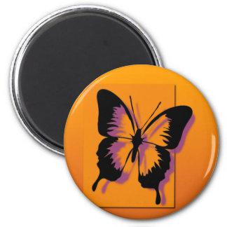 Black Purple Butterfly Magnet