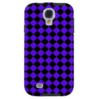 Black Purple Checkered Diamond Trendy Art Pattern Galaxy S4 Case
