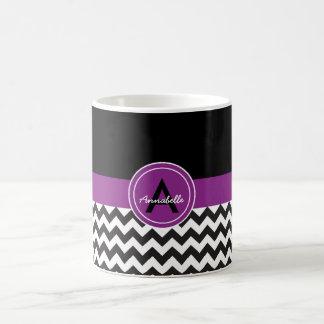 Black Purple Chevron Coffee Mug