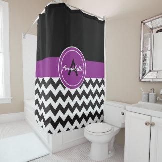 Purple Monogram Shower Curtains   Zazzle