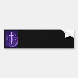 Black & Purple Cross Bumper Sticker Easy to Design