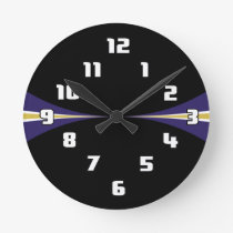 Black Purple Gold Clock