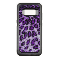 Black Purple Leopard Pattern Design OtterBox Commuter Samsung Galaxy S8 Case
